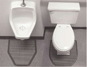 Prosorb Urinal And Commode Mats Commercial Toilet And